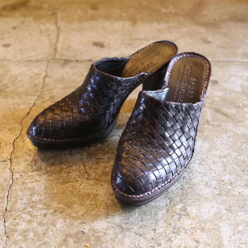 画像1: 【DONALD J PLINER】MESH DESIGN HEEL SABOT / 7.5 / MADE IN ITALY (1)