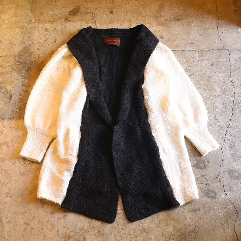 "画像1: 【Wiz&Witch】""UNITED"" MONOTONE KNIT CARDIGAN (1)"