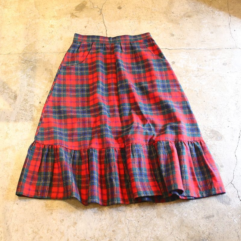 画像1: 【PENDLETON】TARTAN CHECK WOOL SKIRT / 27 / MADE IN USA (1)