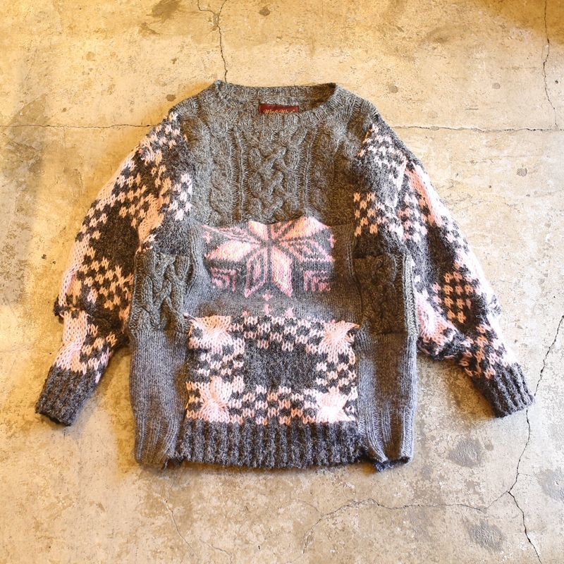 "画像1: 【Wiz&Witch】""UNITED"" PATCHWORK KNIT (1)"