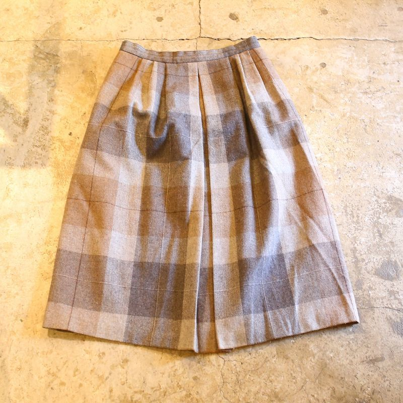 画像1: VINTAGE DESIGN CHECK PATTERN SKIRT (1)