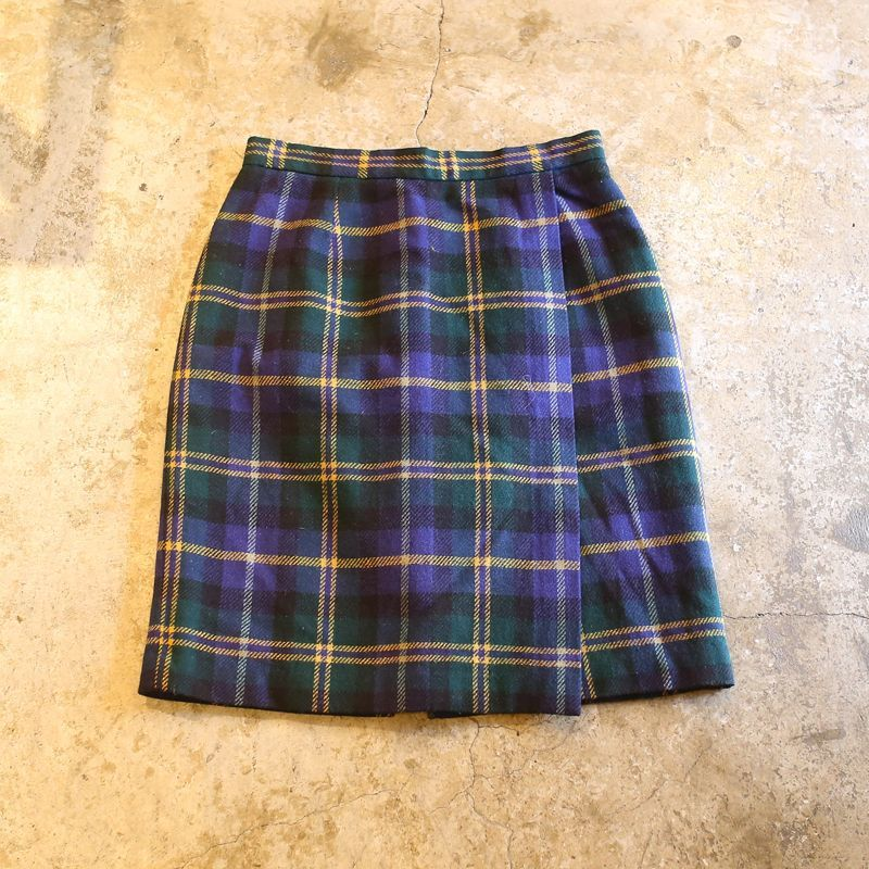 画像1: DESIGN CHECK PATTERN SKIRT / 6 / MADE IN USA (1)