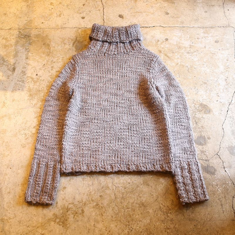 画像1: DESIGN TURTLE NECK KNIT SWEATER / S (1)