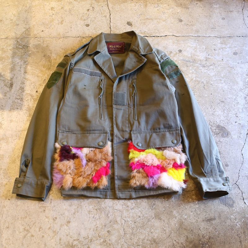 "画像1: 【Wiz&Witch】""MIX FUR"" MILITARY JACKET (1)"