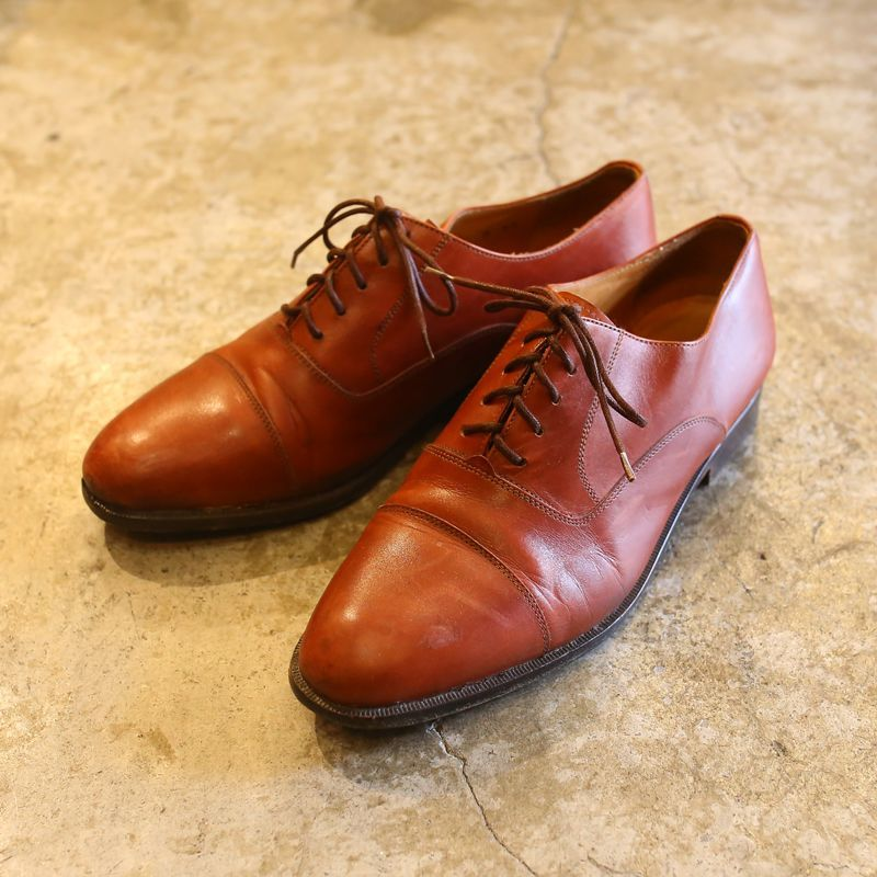 画像1: 【COLE HAAN】DESIGN LEATHER SHOES / 8 / MADE IN ITALY (1)
