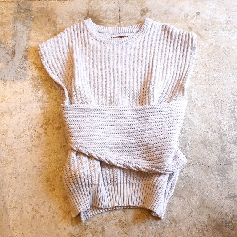 画像1: 【Wiz&Witch】3WAY KNIT VEST / GRAY (1)