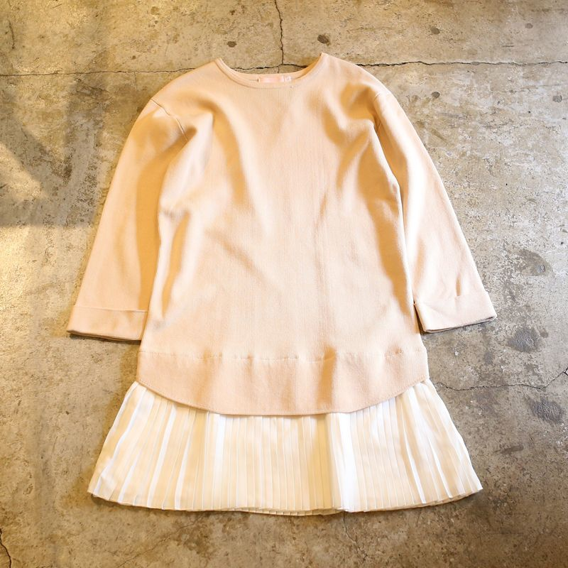 画像1: PLEATED DOCKING DESIGN TOPS / S (1)