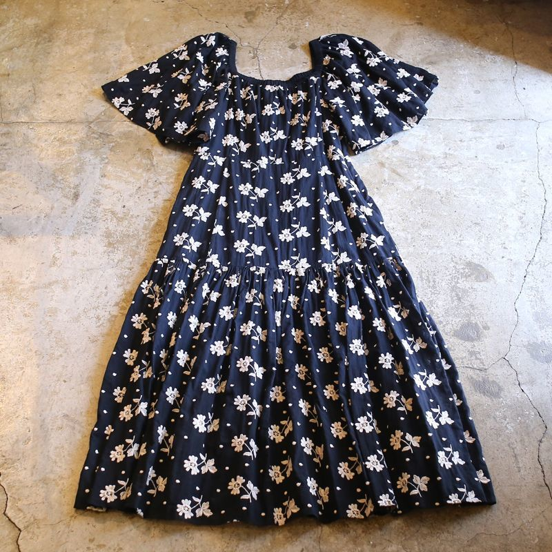 画像1: FLORAL PATTERN DESIGN ONE-PIECE / S (1)