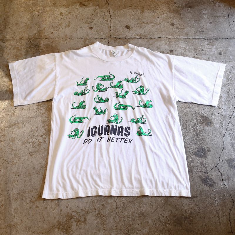 "画像1: ""IGUANAS"" ADULT DESIGN TEE / Mens L (1)"
