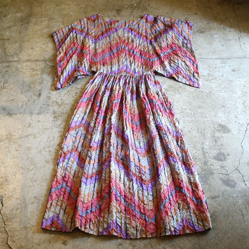 画像1: 1960's VINTAGE ART DESIGN ONE-PIECE / Ladies S (1)