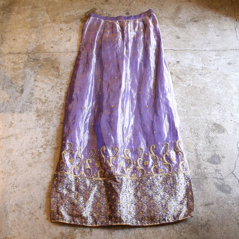 画像1: 1960's VINTAGE DECORATIVE SKIRT / W23~W33 (1)