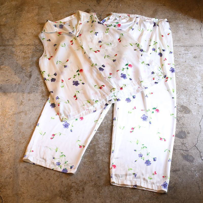 画像1: FLORAL PATTERN DESIGN SET-UP / Ladies L~XL (1)