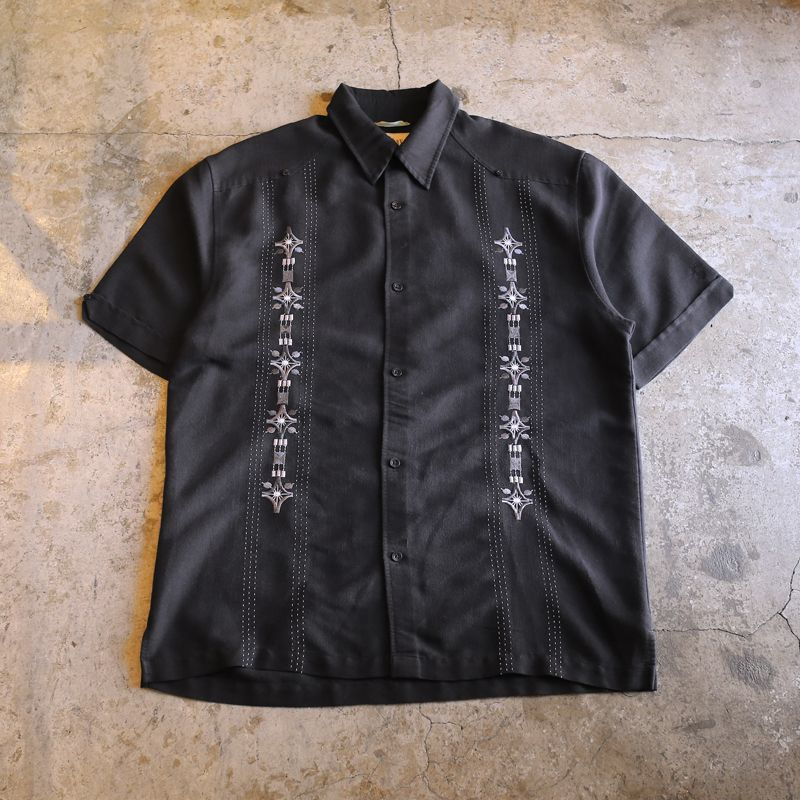 画像1: EMBROIDERY DESIGN SHIRT / Mens M (1)