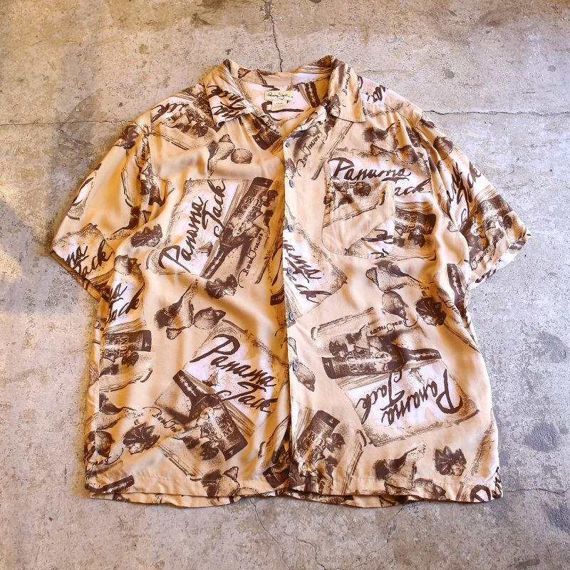 画像1: PANAMA JACK RUM DESIGN RAYON SHIRT / Mens XL (1)