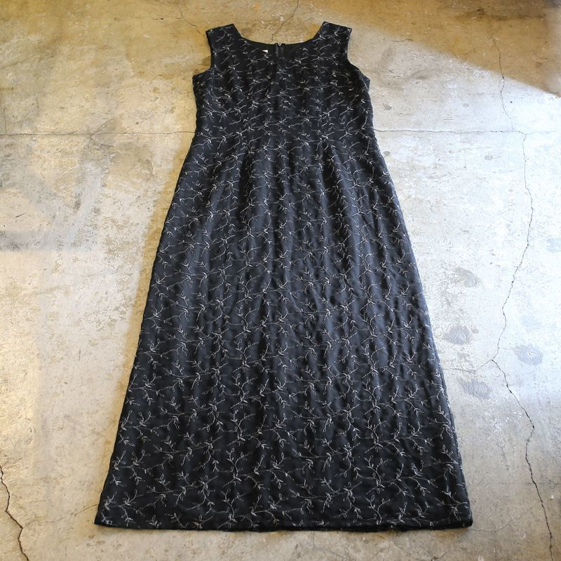 画像1: BOTANICAL PATTERN N/S ONE-PIECE / Ladies M (1)