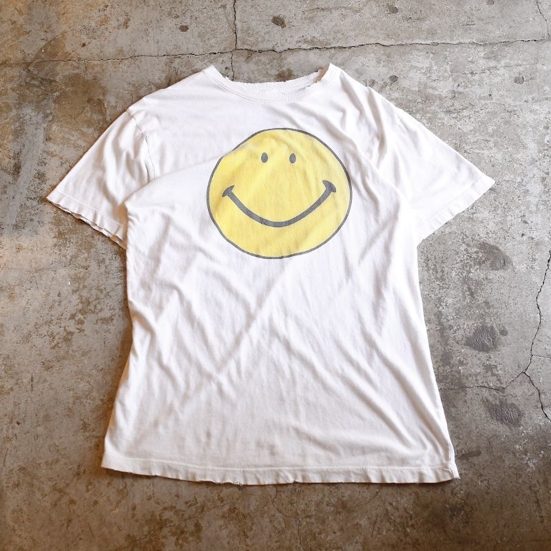 画像1: SMILEY FACE PRINT TEE / Men's L (1)