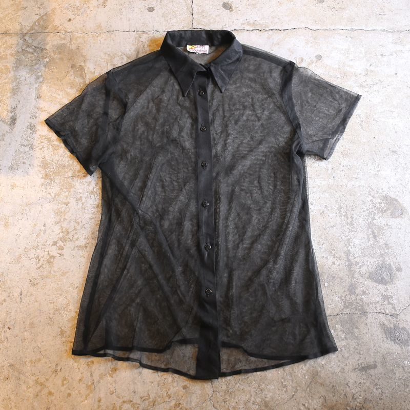 画像1: SEE THROUGH DESIGN S/S SHIRT / Ladies M~L (1)