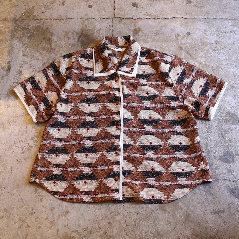 画像1: ART PATTERN DESIGN SHIRT / Ladies S~M (1)