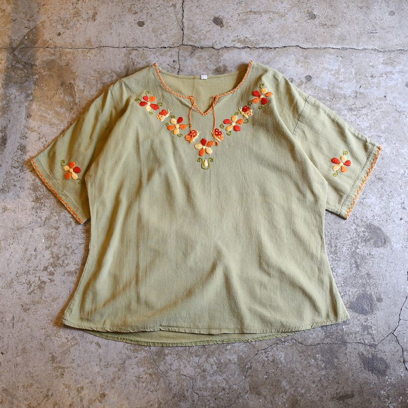 画像1: EMBROIDERY DESIGN TOPS / Ladies M (1)
