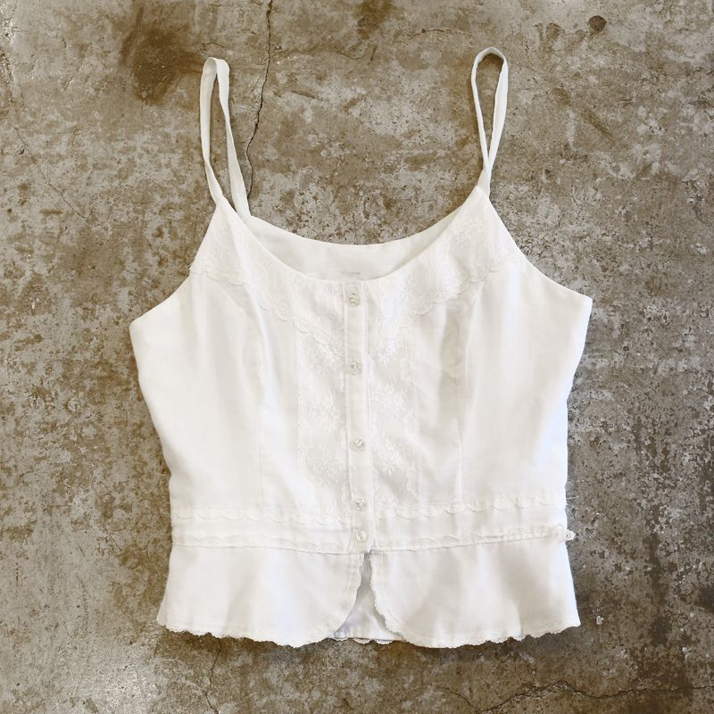 画像1: LACE DESIGN CAMISOLE / Ladies S (1)