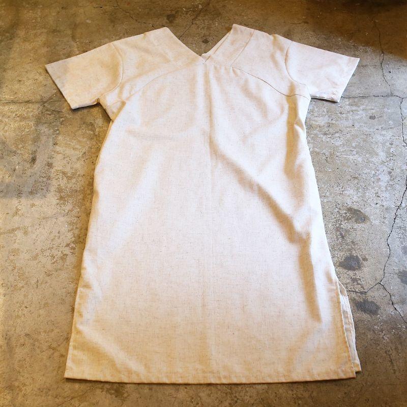 画像1: NECK DESIGN ONE-PIECE / Ladies L (1)