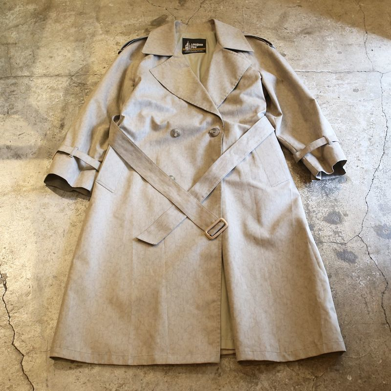 画像1: FLORAL DESIGN TRENCH COAT / Ladies M / MADE IN USA (1)