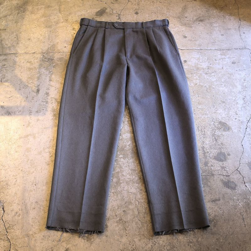 画像1: 2TUCK DESIGN SLACKS / W34 (1)