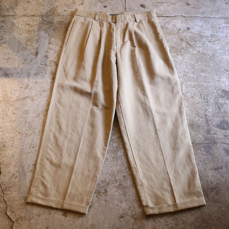 画像1: 2TUCK DESIGN SLACKS / W29 (1)