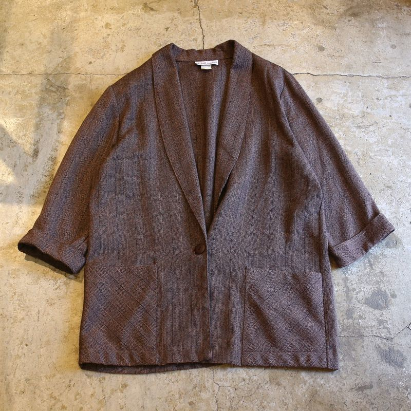 画像1: RAYON DESIGN TAILORED JACKET / Ladies L (1)