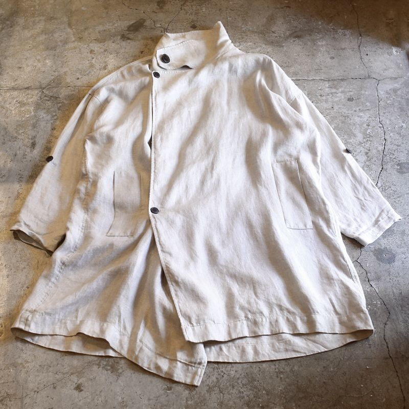 画像1: HI-NECK DESIGN SHORT COAT / Mens XL (1)