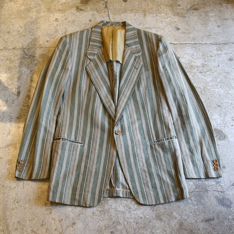 画像1: 【GIORGIO ARMANI】STRIPE PATTERN TAILORED JACKET / Mens M / MADE IN ITALY (1)