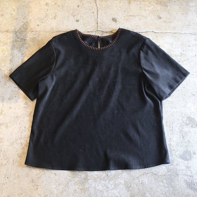 画像1: FAUX SUEDE DESIGN TOPS / Ladies L / MADE IN USA (1)