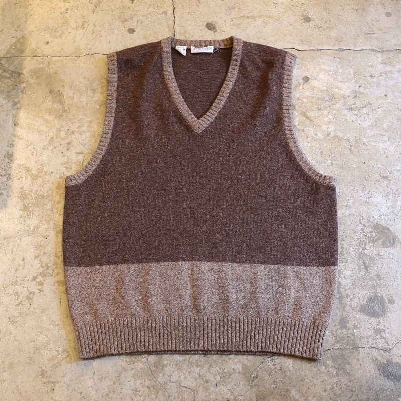 画像1: 【GIORGIO ARMANI】BICOLOR DESIGN KNIT VEST / Ladies L (1)