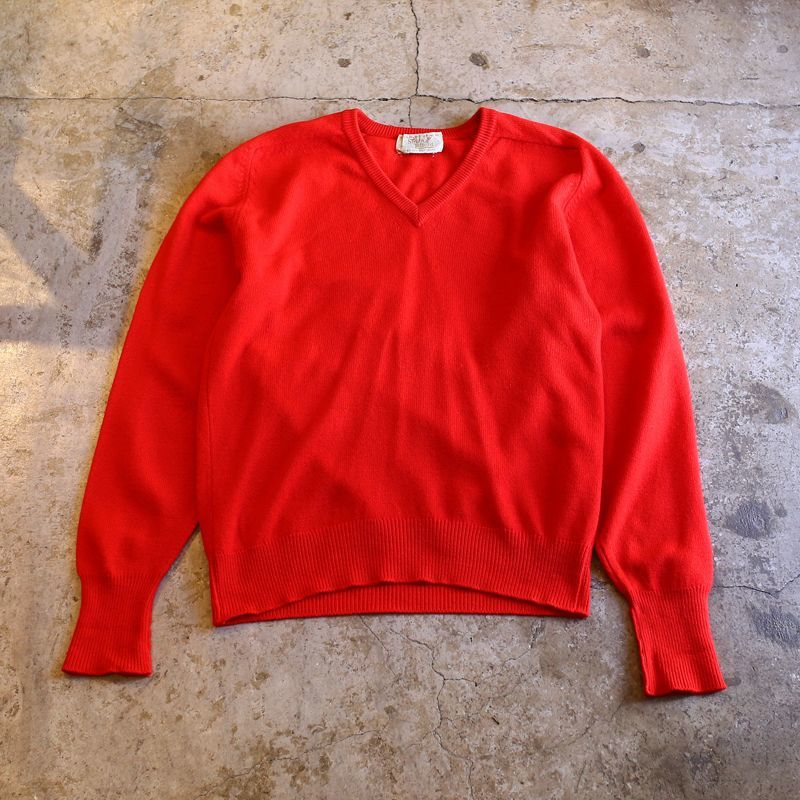 画像1: VINTAGE COLOR DESIGN CASHMERE KNIT / Ladies M~L (1)