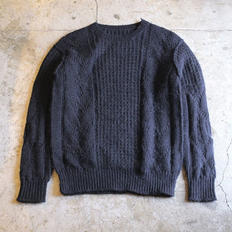 画像1: 【ALLSAINTS】ALPACA DESIGN KNIT SWEATER / Mens S (1)
