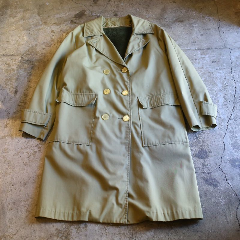 画像1: OVER TRENCH COAT / Ladies L (1)