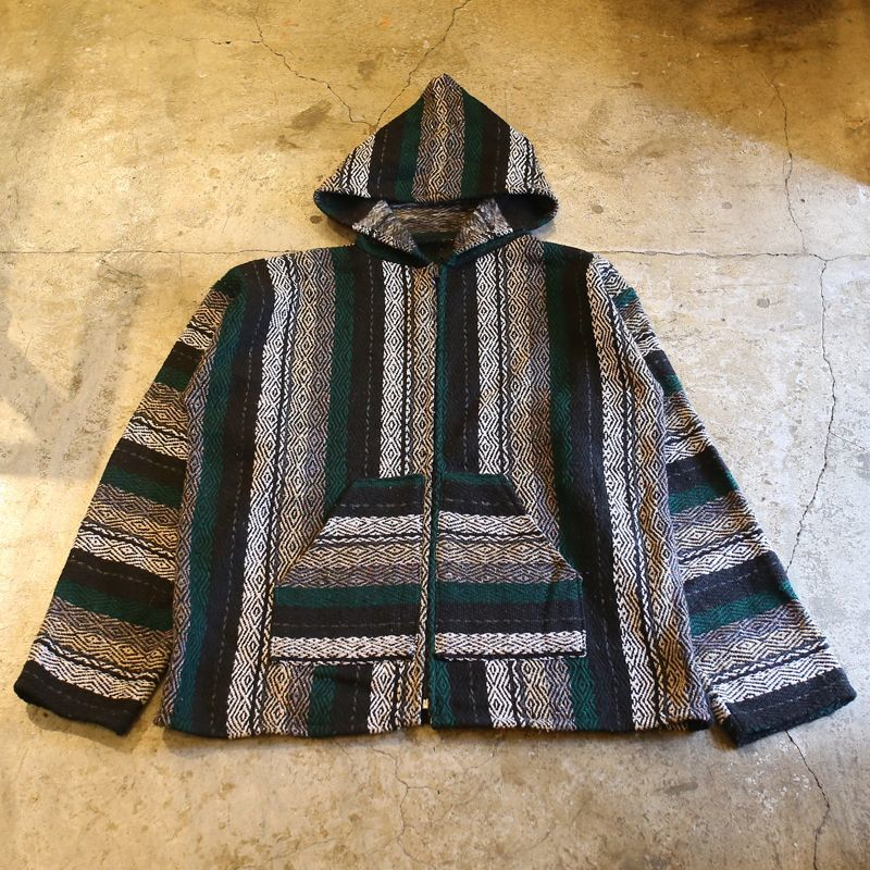 画像1: ZIP UP DESIGN MEXICAN PARKA / Ladies L (1)