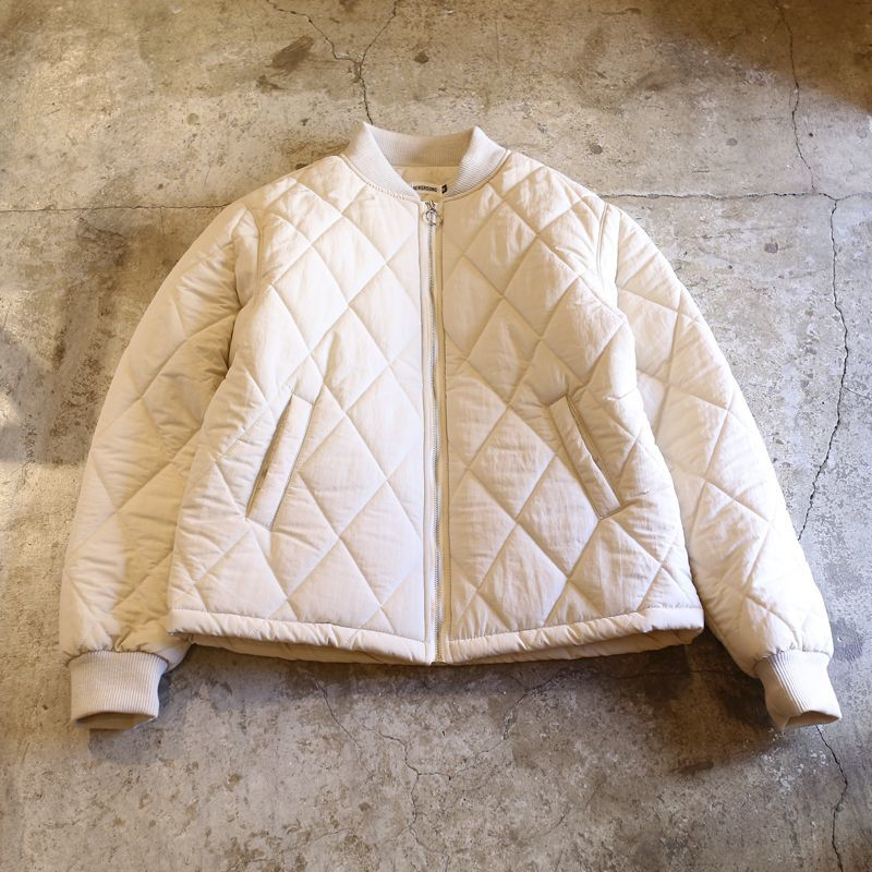 画像1: 20%OFF!!【WONDERGROUND】QUILTING JACKET / WHITE (1)