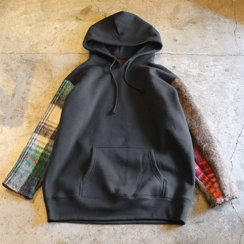 "画像1: 【Wiz&Witch】""UNITED"" MIX FABRIC SLEEVE PARKA / OS (1)"