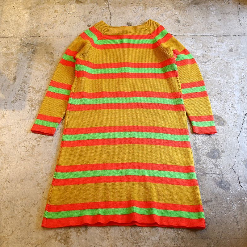 画像1: VINTAGE BORDER DESIGN KNIT ONE-PIECE / Ladies M (1)