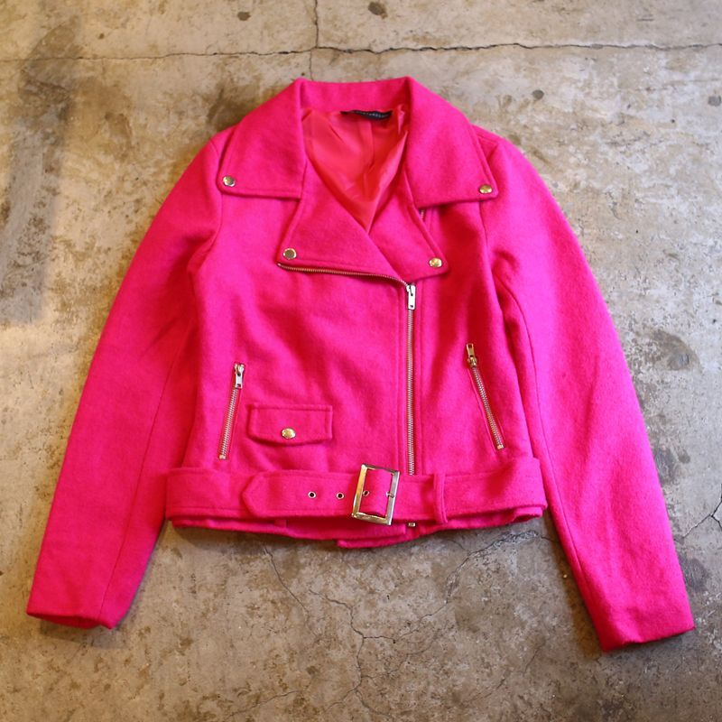 画像1: COLOR WOOL RIDERS JACKET / Ladies M (1)