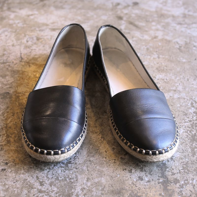 画像1: LEATHER DESIGN ESPADRILLE / 8 (1)