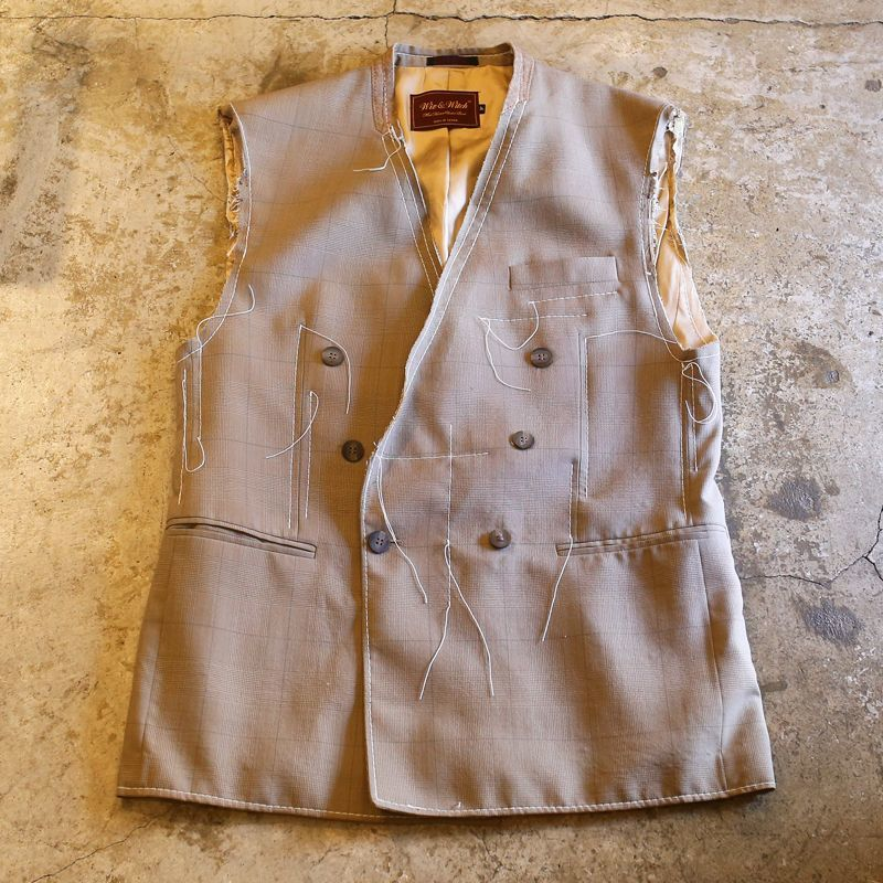 "画像1: 【Wiz&Witch】""OUT STITCH"" DOUBLE TAYLOR VEST  / OS / BEIGE (1)"