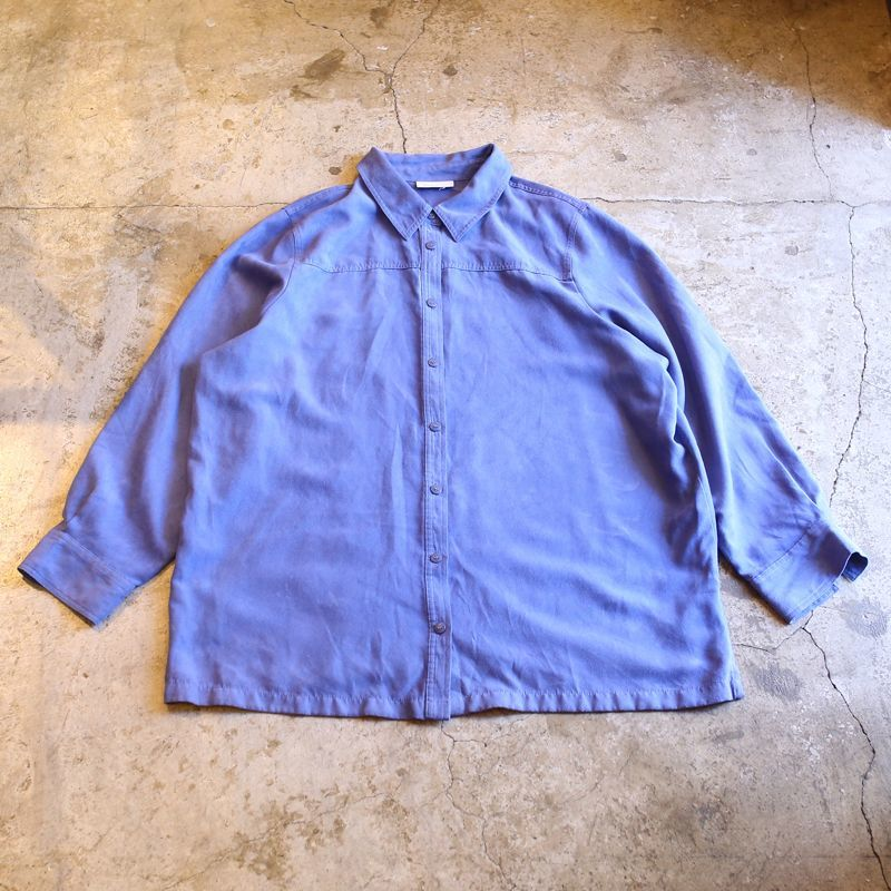 画像1: FAUX SUEDE DESIGN SHIRT / Ladies L (1)