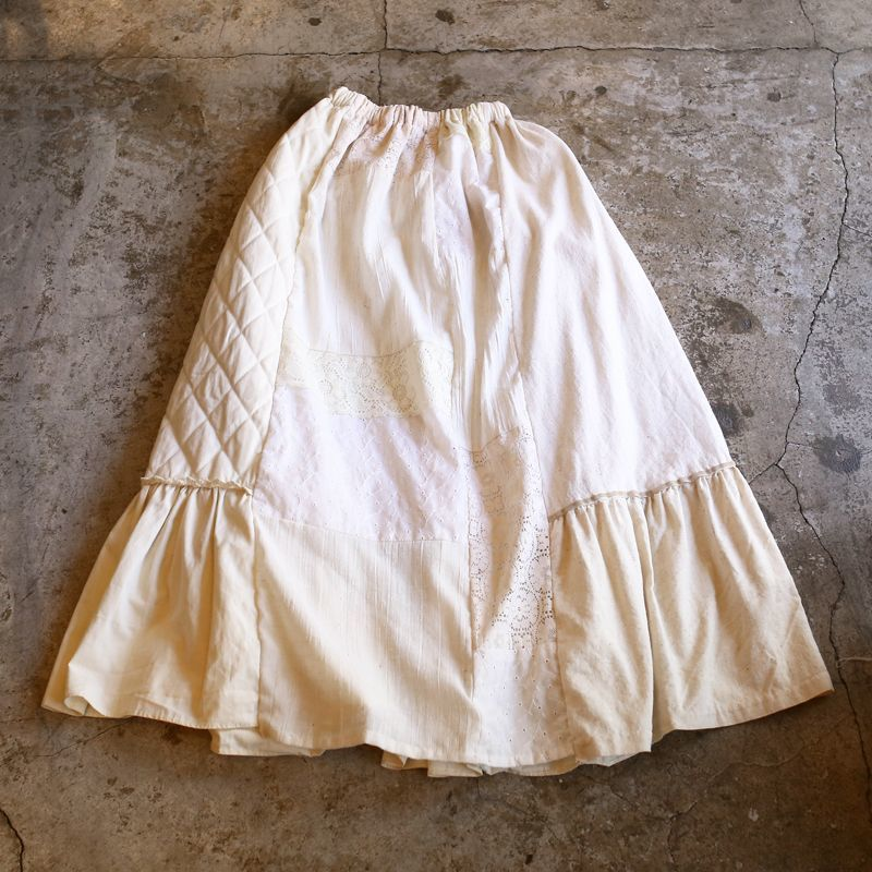 "画像1: 【Wiz&Witch】""UNITED"" VINTAGE LONG SKIRT / FREE (1)"