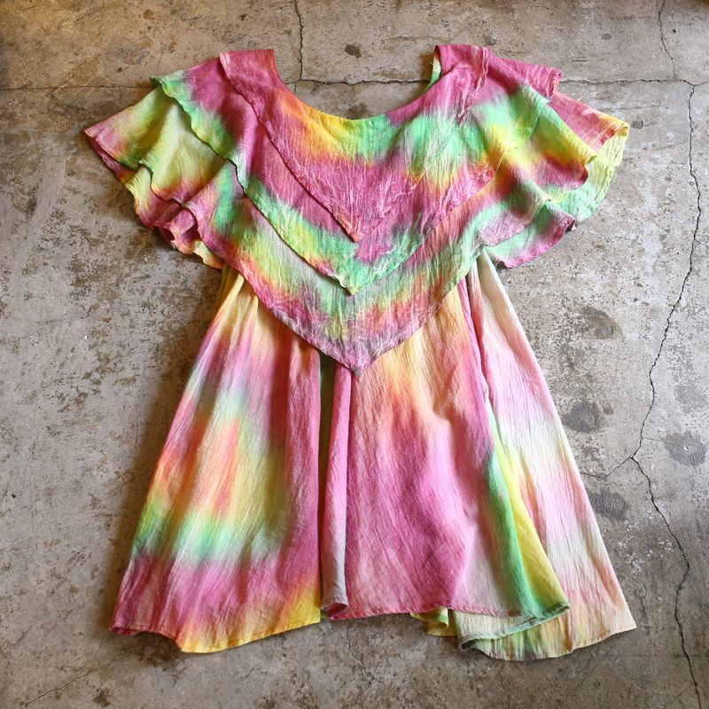 画像1: TIE-DYE PATTERN DESIGN LONG TOPS / FREE (1)