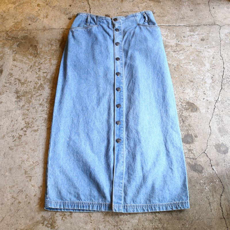 画像1: 1980~90's VINTAGE DENIM SKIRT / W29~W32 (1)
