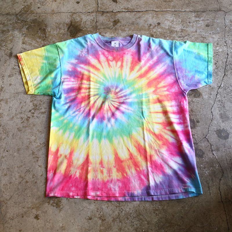画像1: TIE DYE PATTERN DESIGN TEE / Ladies XL (1)