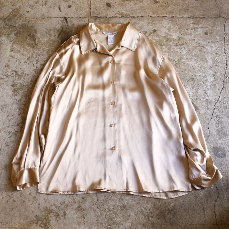 画像1: DESIGN L/S SILK SHIRT / Ladies L (1)