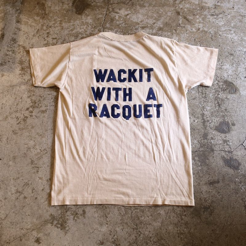 "画像1: ""WACKIT WITH A RACQUET"" PRINT TEE / Ladies M (1)"